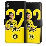 Etui Compatible avec Sony Xperia XA Etui Folio Etui magnetique Borussia Dortmund BVB Bundesliga