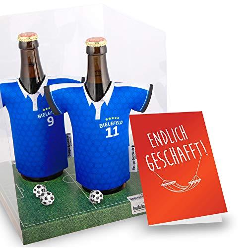 Ruhestand Geschenk | Der Trikotkühler | Das Männergeschenk für Bielefeld-Fans | Langlebige Geschenkidee Ehe-Mann Freund Vater Geburtstag | Bier-Flaschenkühler by Ligakakao