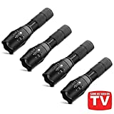 TC1200 Tactical Flashlight with Magnetic Base, Super Bright 2000 Lumens 5 Light Modes Zoomable XML T6 LED Flashlights Torch,4-Pack