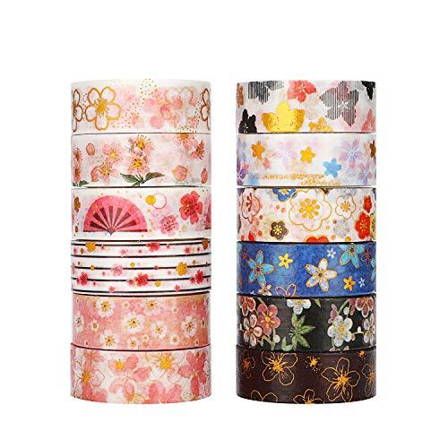 Molshine Japanisches Washi Masking Tape, Klebeband für DIY, dekoratives Handwerk, Geschenkverpackung, Scrapbook Sakura series