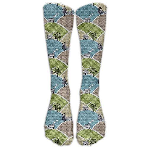 xinfub House Kompressionssocken Fußballsocken High Socks Long Socks 49,7 Zoll Bequem 6490