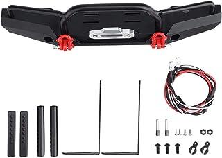 RC bil främre stötfångare, metall främre stötfångare med LED-lampor för 1/10 Traxxas TRX-4 SCX10II 90046 Fjärrkontroll Cra...