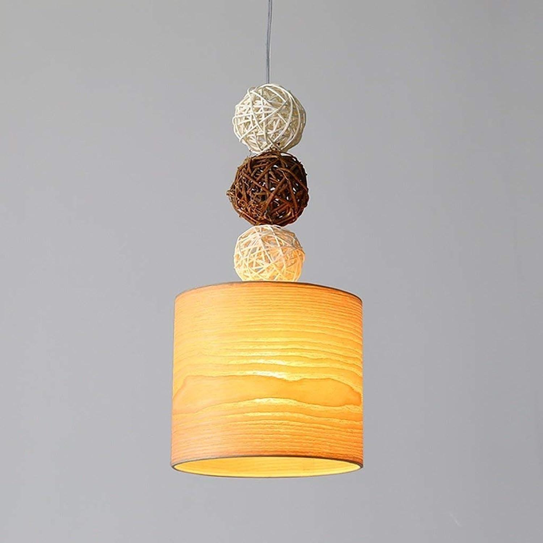 FuweiEncore Holz Kronleuchter Kreative Bar Objekte der Dekoration Die Einfache Lichter Coffee Shop Single Head Licht Projektor DREI Schlafzimmer Nachttischlampe (Farbe  (B) (Farbe   A)