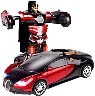 Transformers' car - children's games - sound - light - movement - turning a human being
