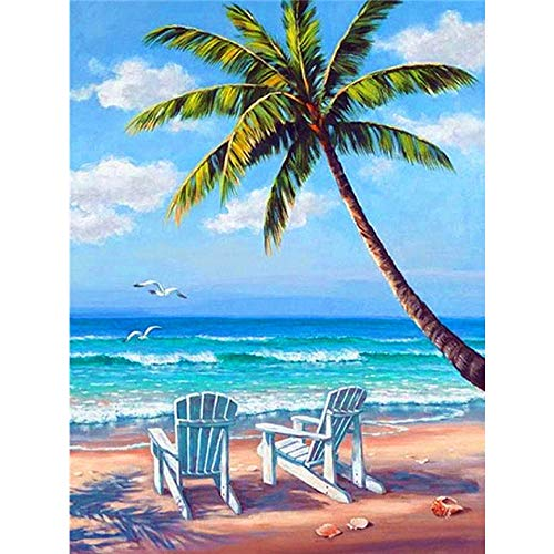 5D DIY Diamond Painting Sunset Seaside Diamond Embroidery Landscape Mosaic Picture Cross Stitch Set Crystal Diamond Painting A9 60x80cm