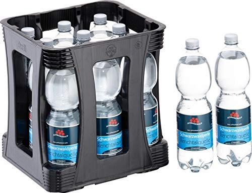 Schwarzwaldperle - Mineralwasser von Peterstaler Blackforest incl. Pfand (Classic - mit Kohlensäure, 9 x 1 Liter incl. Kasten)
