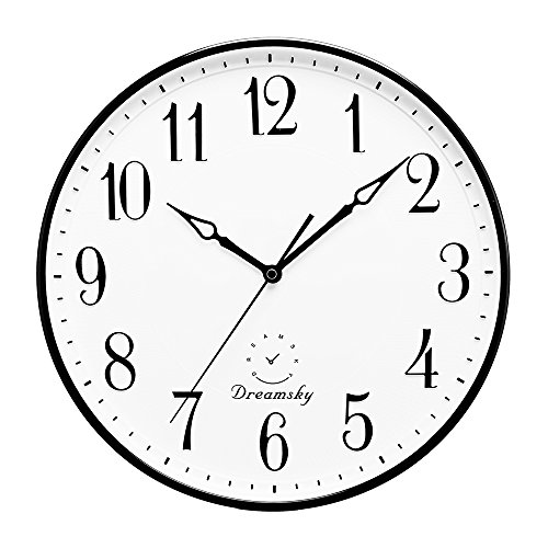Round Retro Large White Wall Clocks For Sale