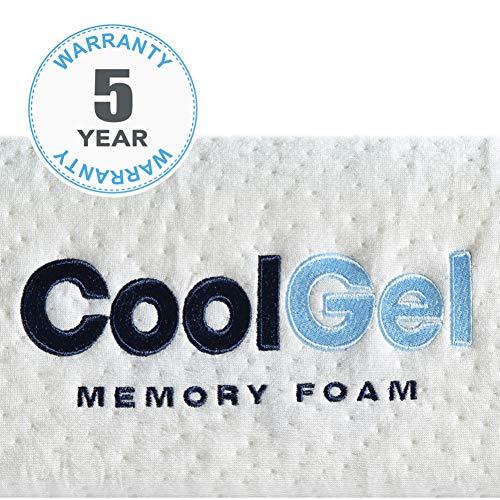 Classic Brands Cool Gel Memory Foam 6-Inch Mattress, CertiPUR-US Certif   ied , Twin, White