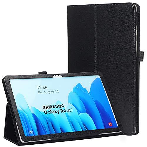 FYY Galaxy Tab A7 10,4'' Hülle 2020,Samsung Galaxy Tab A7 Schutzhülle PU Leder Samsung Tab A7 Taschehülle Flip Stand Tablet für Samsung Galaxy Tab A7 10.4'' SM-T500/T505-Schwarz