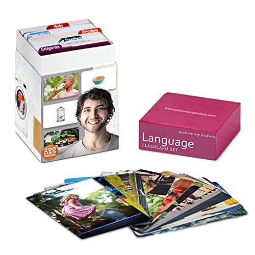 Immagina i miei sentimenti e le emozioni, preposizioni, verbi, categorie e andare insieme Flash Card Pack | Materiali per terapia vocale, materiali ESL (Volume 1)