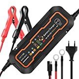 KYG Chargeur de Batterie pour Voiture 6/12V 5A, Mainteneur de Batterie Intelligent...