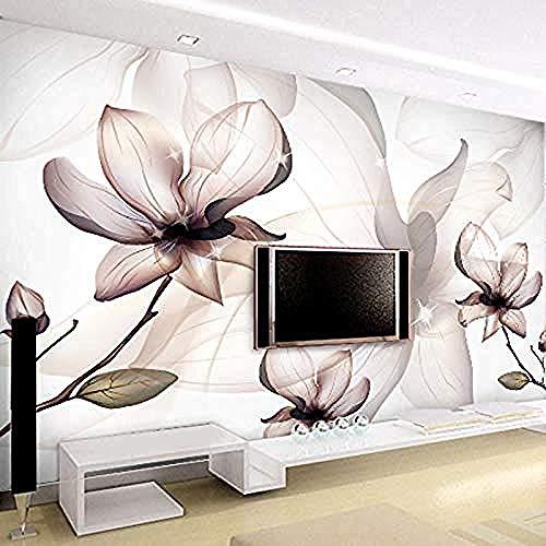 Fotobehang Magnolia Bloem Niet-geweven Muurschildering Grote Woonkamer Muren BehangNon-geweven Zijde Aangepaste 3D Behang Plakken Woonkamer De Muur voor Slaapkamer Mural Border 300 cm.