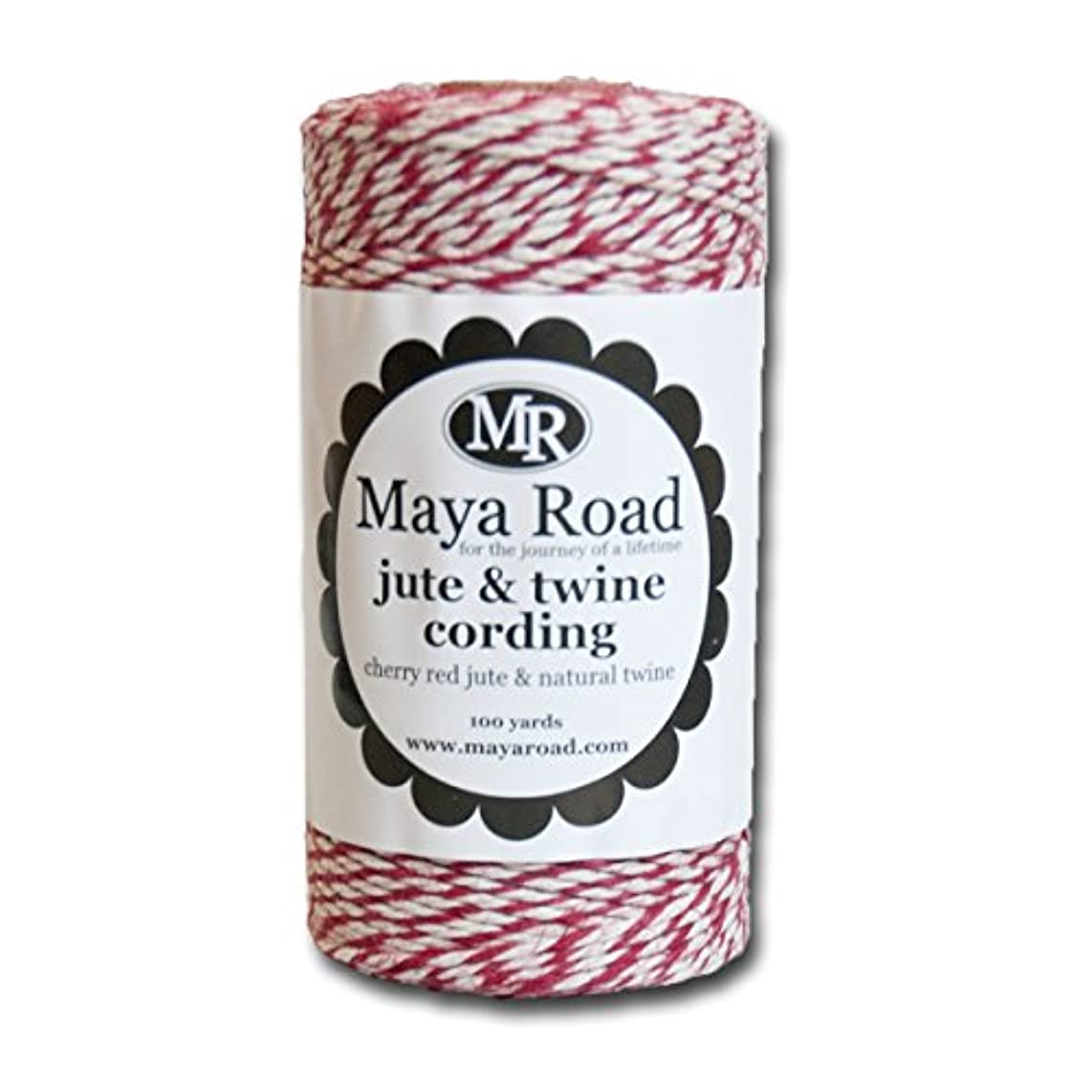 Maya Road TC3061 Cherry Red Jute & Twine Cording for Paper Crafts and Scrapbooking