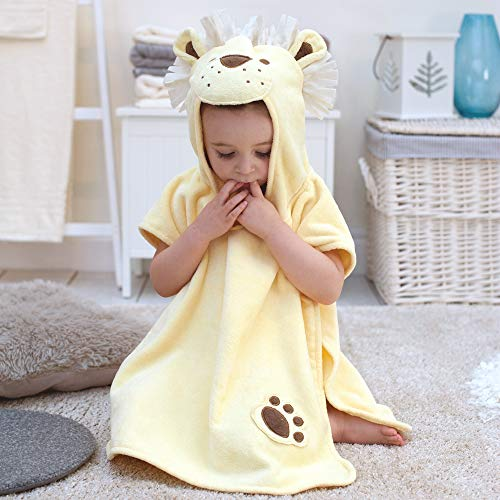 Baño conejo niños León toalla Poncho para niños y niñas 1–3años de edad para playa tiempo y la hora del baño