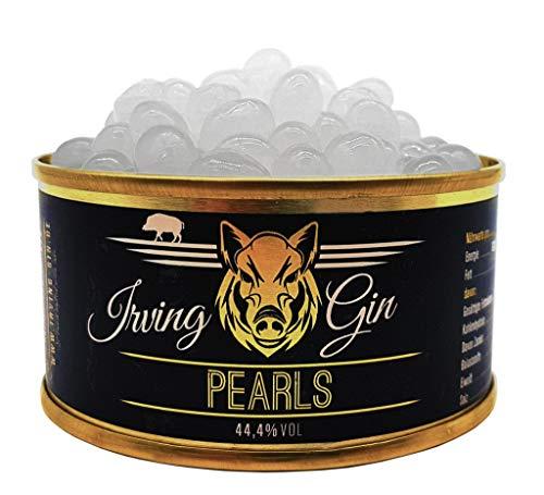 Irving Gin Pearls, kleine Perlen aus 95% Irving London Dry Gin, Zubereitung edler Drinks und Gerichte, 100% vegan