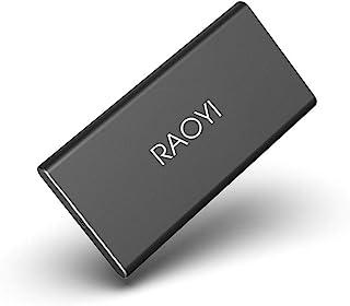 RAOYI 外付けSSD 120GB USB3.1 Gen2 ポータブル SSD 転送速度最大450MB/秒PS4動作確認済 超薄型・超高速Type-A/Type-C 耐衝撃 防滴 黒(2年保証)