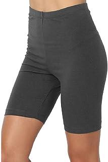 S-Fly Women Shorts Bermuda Skinny High Yoga Waist Stretchy Tummy Control Short Leggings