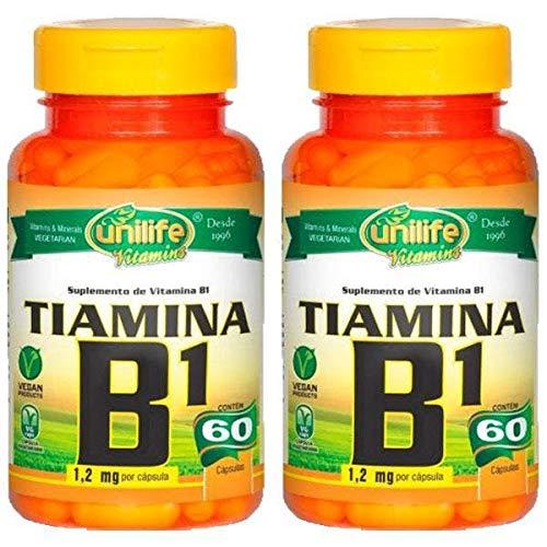 Vitamina B1 Tiamina - 2 unidades de 60 Cápsulas - Unilife