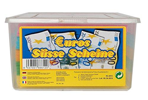 Euros Süße Scheine Bunte Essoblaten 200 Stück, 1er Pack (1 x 625 g)