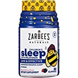 Zarbee's Naturals Children's Sleep with Melatonin Gummy Supplement, Berry Gummies 80 Count (Pack of 1)