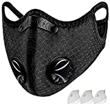 Dust Mask with Breathing Valve Replaceable Activated Carbon Filter Washable Recyclable Sport Mask for Gym Workout Unisex