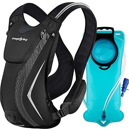 Songwin Trinkrucksack mit Trinkblase 2L Trailrunning Rucksack Fahrradrucksack zum Laufen Radfahren Wandern Klettern Skifahren Jagdbeutel, Wasserrucksack mit Trinksystem für Männer und Frauen