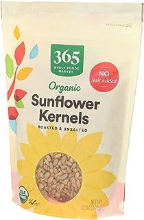 365 توسط WFM ، مغز آفتابگردان خشک بو داده و بدون نمک ارگانیک ، 12 اونس