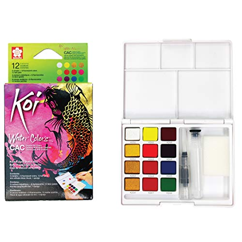 Sakura Pocket Set Koi Watercolor Kit, 12 Colors Count