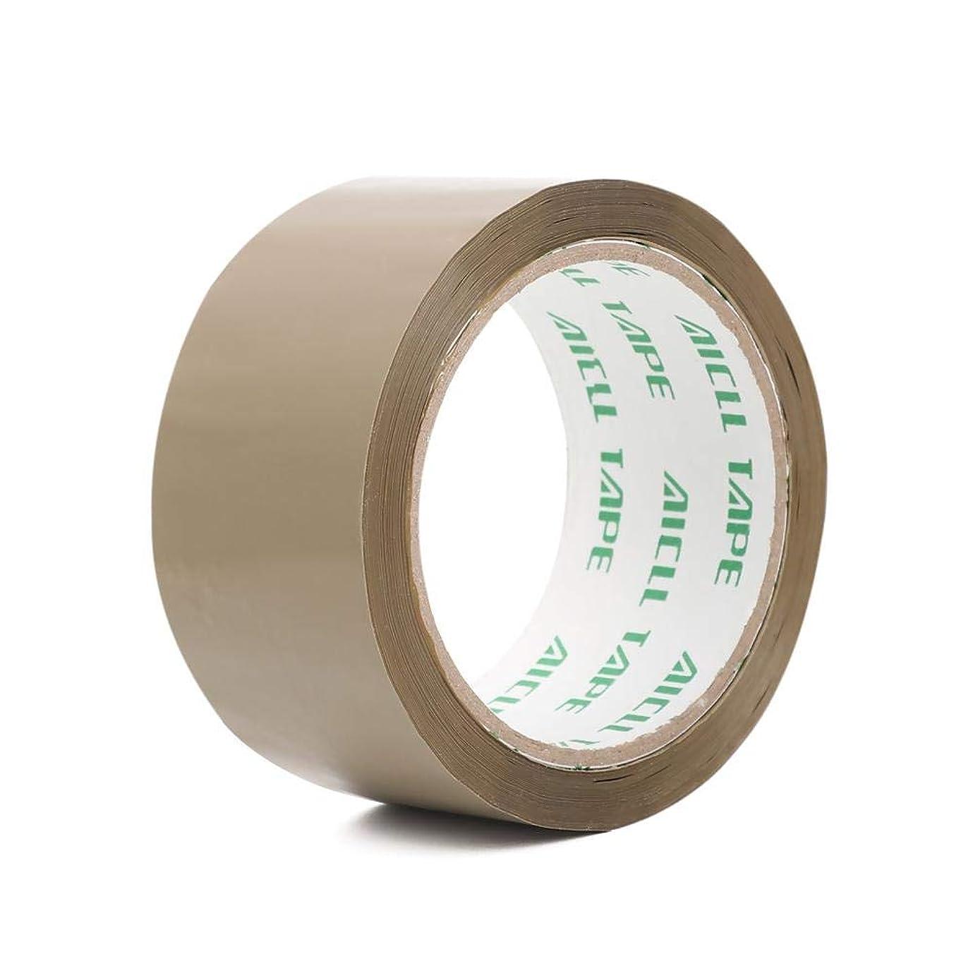 意図的ジェットトリップxiaoxioaguo バフブラウンの明確な包装の小包のパッキングテープシーリングパッカーテープ強い??幅のローラーテープ4.8mm