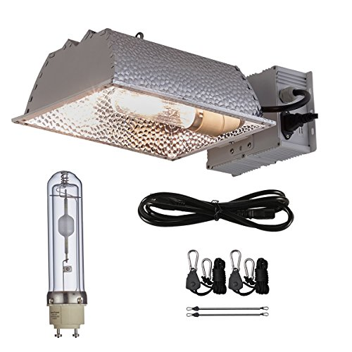 TopoGrow 315W CMH CDM Grow Light Kit Fixture W/3100K Bulb with 120/240V Ballast , 120V Power Plug Included, Full-Spectrum Hydroponic Grow Light
