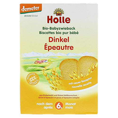 Holle snack organico - fette biscottate al farro per bambini - confezione singola da 200g