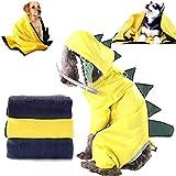 Fadaar Perros Chubasqueros con Capucha 1Pcs Impermeable Chubasqueros para Perros + 1Pcs Toalla para Perros Toallas para Mascotas para Perros Toallas de Playa Toallas Absorbentes Adecuadas Amarillo