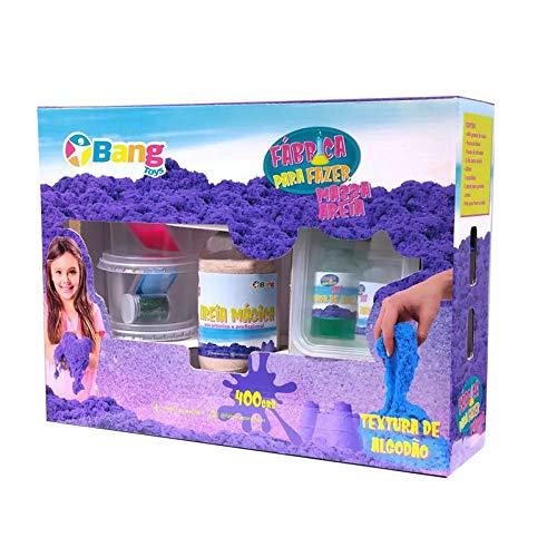 Fabrica Massa Areia Mágica 400g, Bang Toys