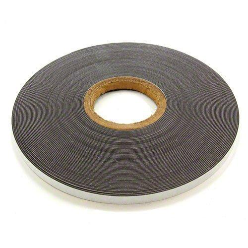 first4magnets 1Meter von 12,7mm breit Selbstklebend glänzend weiß Ferroleiste