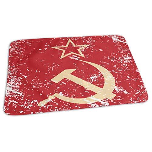Communisme Sovjet-Unie Retro Vlag Baby Herbruikbare Changing Pad Cover Draagbare Reizen veranderen Mat 27.5x19.7 inch