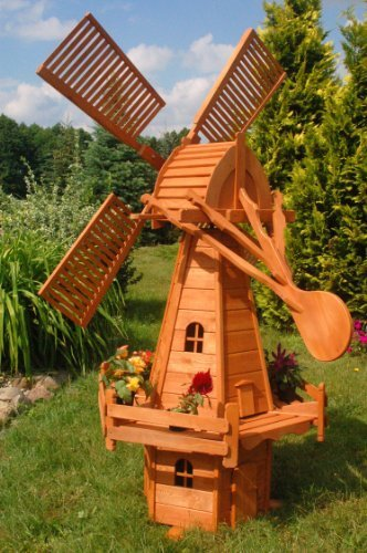 Deko-Shop-Hannusch Moulin à vent style hollandais Grand modèle 2,15 m