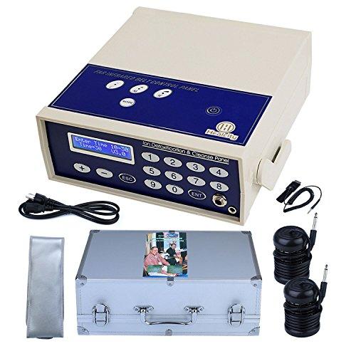 Ionic Foot Bath Detox Machine Professional Negative Hydrogen Ion Foot Detoxification System SPA Cleanse with 2 Detox Arrays+1 Far Infrared +1 Wrist Strap+1 Power Cord+ 1 Waist Belt+1 Storage Case
