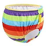 NROCF Traje De Baño De Bebé - Raya del Arco Iris Natación Bañador Pañal Anti-Side Fuga De Baño De Natación Pantalones,L