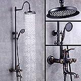 FMXKSW Set de Ducha Conjunto de Ducha para baño Grifo Monomando Baño Cuadrado Mezcladores de Ducha Monomando Pulverizador de bidé de Agua fría y Caliente al Aire Libre
