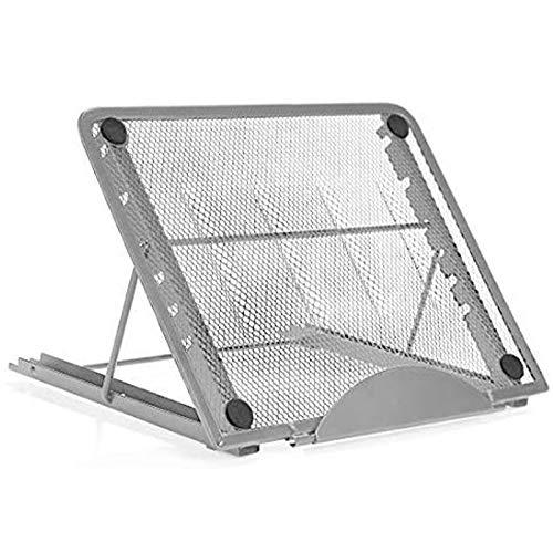 RabbitStorm Soporte de Refrigeración para Portátil, Soporte Ventilado y Ajustable para Laptop - Puede Ajustar 6 ángulos, Rejilla de Refrigeración de Computadora, Malla de Metal, Antideslizante, Disipación de Calor Rápida, Plegado Portátil, 24 * 19 * 1.5 cm, Adecuado para iPad Mini, iPad, iPad 2, Laptop, etc.