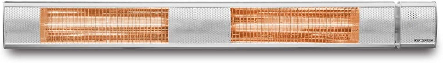TROTEC Calefactor por radiación infrarroja IR 3050/ Completamente silencioso con 3 Niveles de calefacción: 1.000 W, 2.000 W y 3.000 W