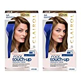 Clairol Root Touch-Up Permanent Hair Color Creme, 6A Light Ash Brown, (Pack of 2)