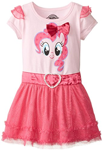 My Little Pony Girls' Toddler Dress with Ruffles and Wings, Light Pink/Heather Pink, 2T