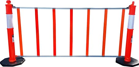 "R U F Portable Pedestrian Safety Barrier, 6`6"" Roll Up Fence, Delineator Posts Sold Separately"