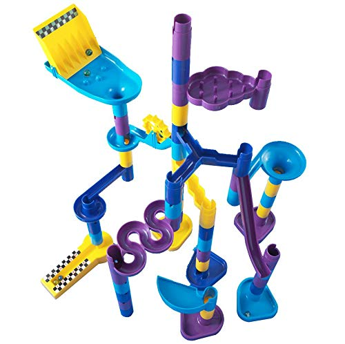 Discovery Toys MARBLEWORKS Marble Run Starter | Kid-Powered Learning | STEM Educational Building Block Toy Learning & Childhood Development 5 Years Old and Up