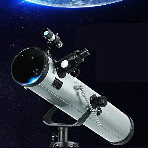 GKD Refracción HD Telescopio Astronómico Trípode Profesional Zoom Monocular Reflectante para Observación Espacial Planet