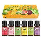 ASAKUKI Fruity Essential Oil Set of 6 Aromatherapy Oils...