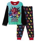 Power Rangers Pyjama long pour garçon avec t-shirt à manches longues + pantalon de nuit - - 3-4 ans