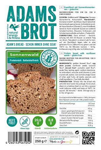 Adams Brot SONNENWALD - Brotbackmischung dunkles Eiweißbrot mit Sonnenblumenkernen und prebiotischen Ballaststoffen (1000)