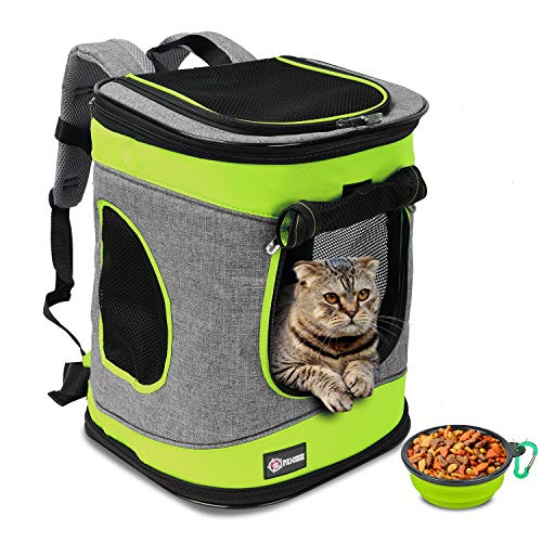 Tirrinia Pet Carrier Backpack for Cats and Dogs up to 15 LBS Airline-Approved Travel Carrier for Pets Hiking, Walking, Cycling & Outdoor Use 16